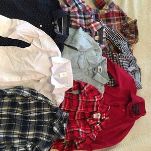 Old Navy/Carter's/Andrew Fezza dress up shirts